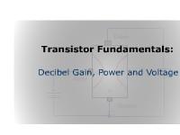 Transistor Fundamentals: Decibel Gain, Power, and Voltage