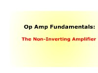 Op Amp Fundamentals: The Non-Inverting Amplifier