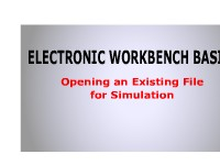 Electronic Workbench Basics: Opening a File for Simulation