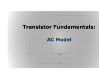 Transistor Fundamentals: AC Models