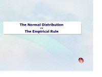 The Normal Distribution and the Empirical Rule