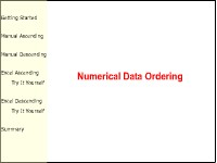 Numerical Data Ordering