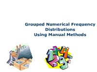 Grouped Numerical Frequency Distributions Using Manual Means