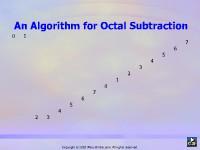An Algorithm for Octal Subtraction