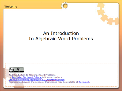 An Introduction  to Algebraic Word Problems