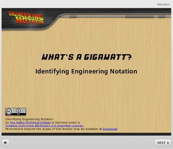 Identifying Engineering Notation