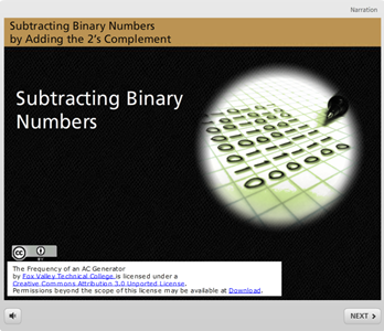 Subtracting Binary Numbers by Adding the 2's Complement
