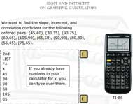 Slope and Intercept on Graphing Calculators