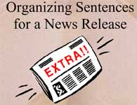 Organizing Sentences for a News Release