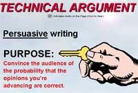Mini-Lecture: Technical Argument