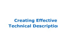 Creating Effective Technical Descriptions