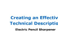 Mechanism Description: Electric Pencil Sharpener