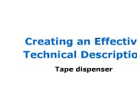 Mechanism Description: Tape Dispenser