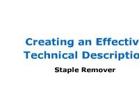 Mechanism Description: Staple Remover