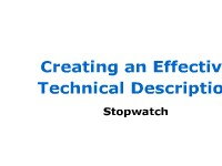 Mechanism Description: Stopwatch