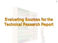 Evaluating Sources for the Technical Research Report