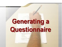 Generating a Questionnaire