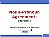 Noun/Pronoun Agreement: Exercise 1