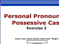 Personal Pronouns / Possessive Case - Exercise 2