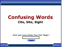Confusing Words--Cite, Site, Sight