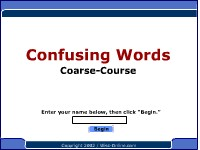 Confusing Words--Coarse, Course