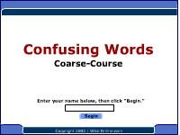 Confusing Words--Coarse, Course