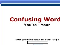 Confusing Words--Your, You're