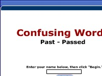 Confusing Words--Past, Passed