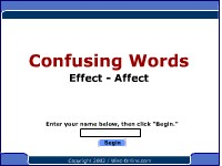 Confusing Words -- Effect, Affect