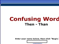 Confusing Words -- Then, Than
