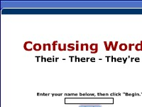 Confusing Words -- Their, There, They're