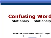 Confusing Words -- Stationary, Stationery
