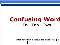 Confusing Words -- To, Too, Two
