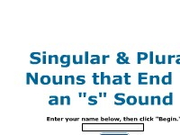 "Singular and Plural Nouns Ending in an ""s"" Sound"