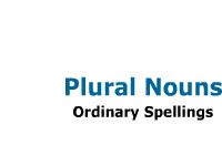 Plural Nouns - Ordinary Spellings