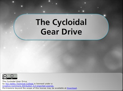 The Cycloidal Gear Drive