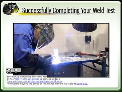 Successfully Completing Your Weld Test