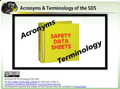 Acronyms & Terminology of the SDS
