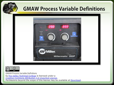 GMAW Process Variable Definitions