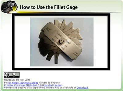 How to Use the Fillet Gage
